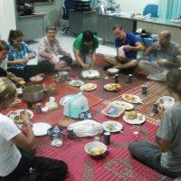 Pranzo a Kompong-Chhnang parrocchia