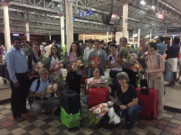 Arrivo in India